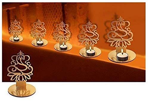 4pc Set Señor Ganesha forma Diwali Diya de las sombras. Deepawali tradicional decorativo Diya En Lord Ganesha forma para casa/oficina.. religiosa té titular de la luz. Diwali decoración Diwali regalo