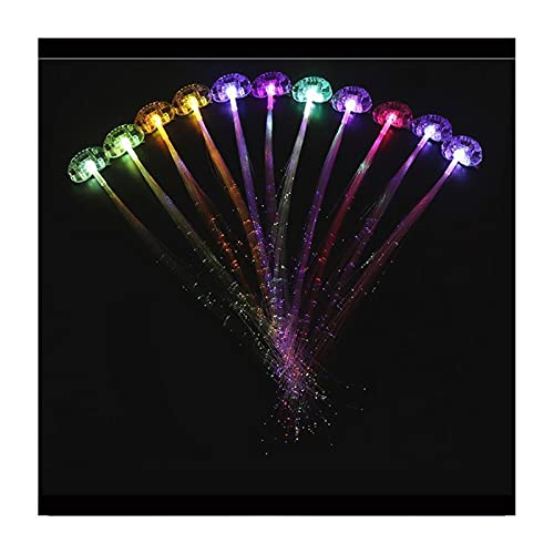Pakket LED Haarverlichting LED Hair Barrettes Extensions Light Flashing Fiber Optic Hair For Party Favors Festival Party…