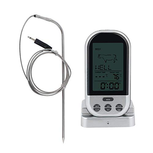 Alinory Food Thermometer, Wireless Digital Mini Food Thermometer Kitchen Cooking BBQ Grill Meat Temperature Tester