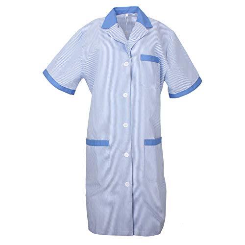 MISEMIYA Batas Laboratorios Túnica de enfermería Uniformes Sanitarios, Azul (Celestes 4), ((Tamaño:M) para Mujer