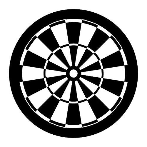 RTCH Auto Aufkleber 2 Stücke Personalisierte 17,4 cm * 17,4 cm Ziel Darts Sport Auto Ganzkörper Dekoration Aufkleber Vinyl Aufkleber
