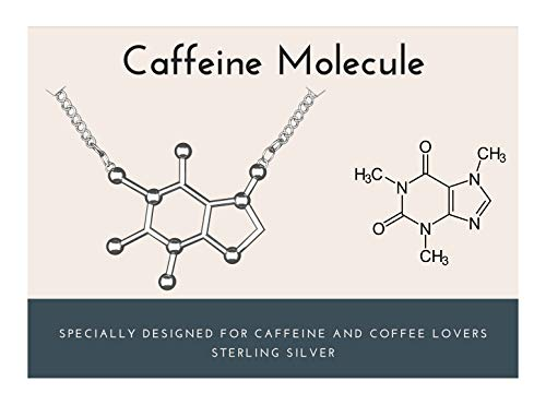 Rosa Vila Caffeine Molecule Necklace, 925 Sterling Silver, Coffee...