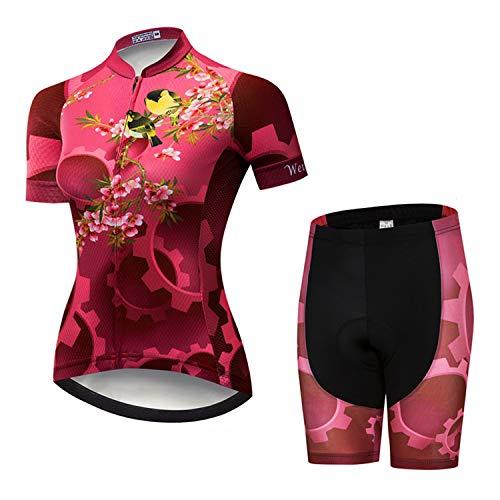 Weimostar - Conjunto de ropa de ciclismo para mujer, Mujer, 9, Chest43'-45.6'=Tag XXXL