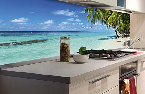 DIMEX LINE Küchenrückwand Folie selbstklebend Strand IM Paradies | Klebefolie - Dekofolie - Spritzschutz für Küche | Premium QUALITÄT - Made in EU | 180 cm x 60 cm