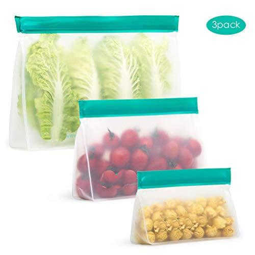 Mekta - Bolsa refrigerante de Alimentos PEVA Food Storage Bag Reutilizable