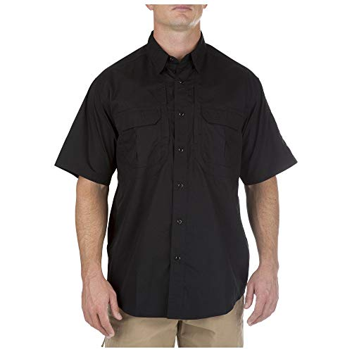 5.11 Tactical Series Taclite Pro Shirt Short Sleeve Homme, Black, FR : S (Taille Fabricant : S)