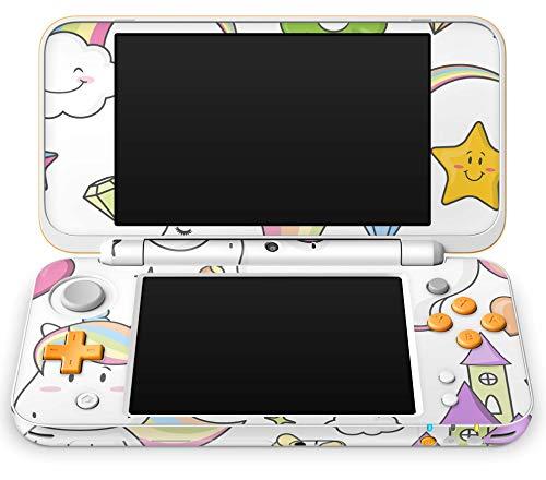 Skins4u Aufkleber Design Schutzfolie Skin kompatibel mit Nintendo NEW 2DS XL Einhorn Draw