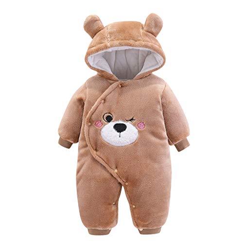 LEXUPE Baby Mantel,Infant Toddler Mädchen Junge Winter Daunenjacke Kapuzenjacke Outwear Kinder Pelzkragen mit Reißverschluss Coat Warme Kleidung(Braun,59)