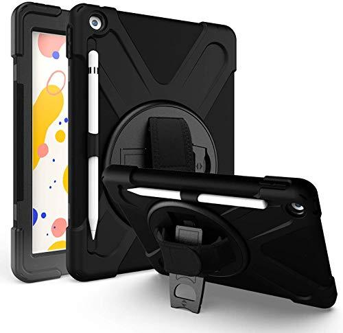 YGoal Hülle für Galaxy Tab S6 Lite - [Handschlaufe] [Schultergurt] Robuste Schutzhülle mit Fallschutz Case Cover für Samsung Galaxy Tab S6 Lite 10.4 P615/P610, Schwarz