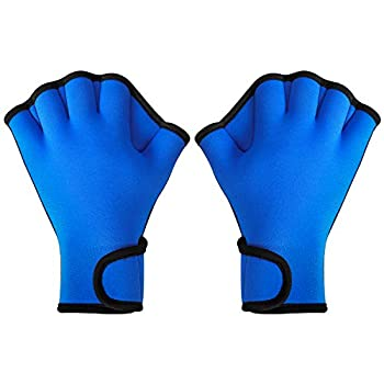 TAGVO Aquatic Gloves for Helping Upper Body Resistance Webbed Swim Gloves Well Stitching No Fading Sizes for Men Women Adult Children Aquatic Fitness Water Resistance Training