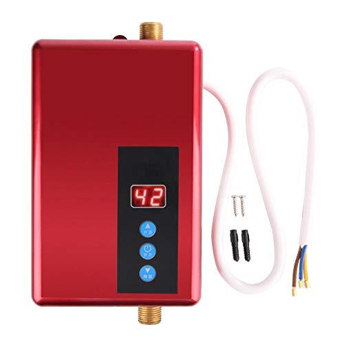 Rockyin Mini electrico inmediato del Calentador de Agua sin Tanque Ducha de Agua Caliente Sistema Rojo de la Cocina