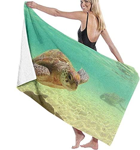 Toalla de Playa Lord Howe Island Turtle Toalla de baño Super Unisex Natación Aguas Termales Viajes Yoga Deportes Camping Cubierta de Tumbona para bañarse o bañarse en casa 130X80cm
