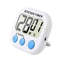 magnetico digitale timer da cucina con allarme forte e ampio display lcd (bianco blu)