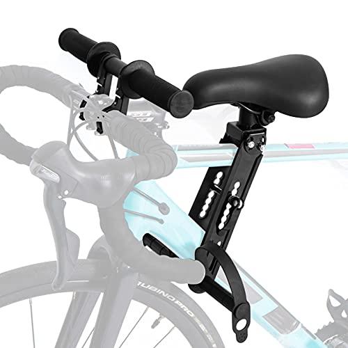 AYYDS Asiento infantil para bicicleta con fijación en el manillar, parte delantera desmontable, asiento de bicicleta montado para niños de 2 a 5 años y hasta 15 kg.