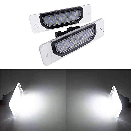 Luces de matrícula de Coche 1 par de Placa de matrícula Lámpara de luz 18SMD Sin Error Número LED OEM Direct Compatible con Infiniti FX35 FX45 Q45 i30 i35 Q70 Nissan Fuga Cefiro Universal