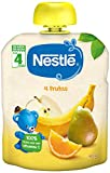 Nestlé Bolsita de puré de frutas, variedad 4 Frutas - Para bebés a partir de 4 meses - Paquete de...