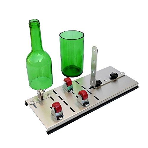 Glas Flasche Cutter, Rostfreier Stahl Flasche Cutter kit für DIY Wiederverwendung Recycling Weinflasche Gläser Schaffung von Glasmalerei, Trommeln, Vasen, Flaschenpflanzer, Flaschenleuchten