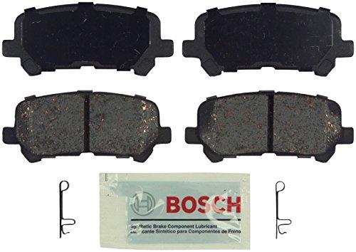 Bosch BE1281 Blue Disc Brake Pad Set for Acura: 2007-13 MDX, 2010-13 ZDX; Honda: 2011-15 Odyssey, 2009-14 Pilot - REAR