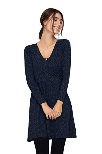 Milker Zulu - Robe d'allaitement Robe Grossesse Blue Print Taille M