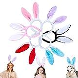 Candygirl 6pcs Easter Bunny Ear headbands for Women Girls Plush Rabbit...
