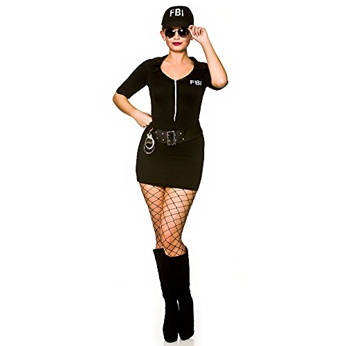wicked Ladies FBI Frisky Body Inspector Fancy Dress Costume