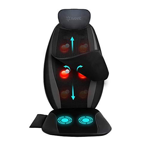 Shiatsu Massagesitzauflage -Elektrisches Rückenmassagegerät Kneten des Rückenmassagegeräts für den gesamten Rücken,das obere oder untere Rückenmassagestuhlkissen für den Sitz im Home Office