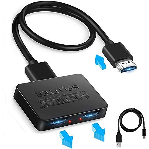 HDMI Splitter 1 in 2 Out, befen 4K HDMI Splitter for Dual Same Monitors...