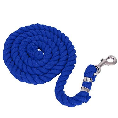 DaMohony Cabestro de caballo, 2 m, 20 mm, gruesa, tejido de perno de colores, cuerda suave para montar a caballo (marrón), 1467801/120814UKIBS, azul real