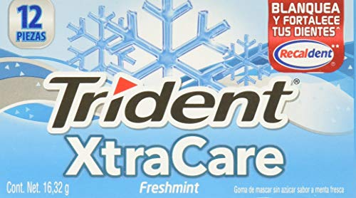Trident, Xtra Care 12'S Freshmint, 195.8 Gramos