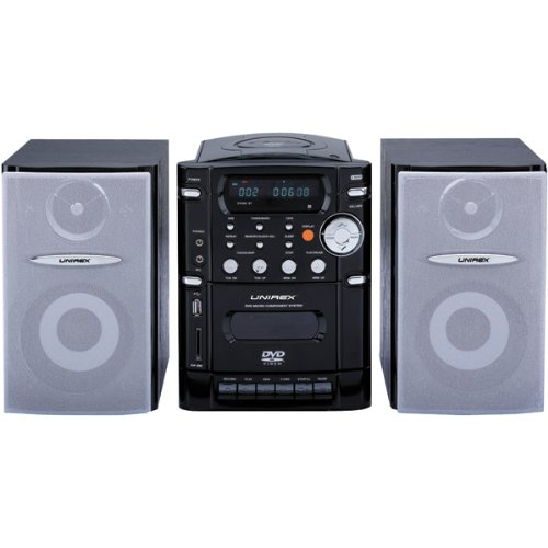 Affordable UNIREX URX-55DVD Micro Hi-Fi DVD with PLL Digital Stereo Radio and Cassette Recorder
