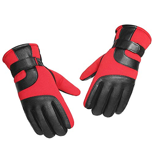 Nosterappou Épaississement Hivernal Chaud à l'intérieur, Gants de Fitness Fitness (Couleur : Red)