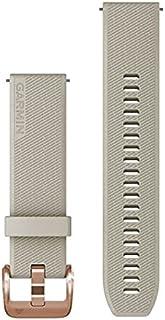 Garmin Quick Release 20 Horlogeband, Licht Zand Siliconen met Rose Gold Hardware, (010-13114-02)