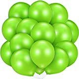 48 Pieces Lime Balloons Light Green Balloons Helium Green Latex Balloon for Wedding Bridal Baby Shower Birthday Party Decorations Supplies (Light Green)