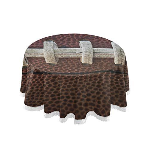 Mantel redondo resistente a las arrugas, mantel de fútbol americano, tejido circular resistente a las manchas, para picnic, fiesta, acampada, 152 cm