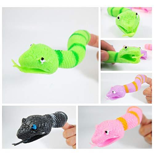 ACHICOO - Marioneta Dedo Forma Serpiente niños, 1