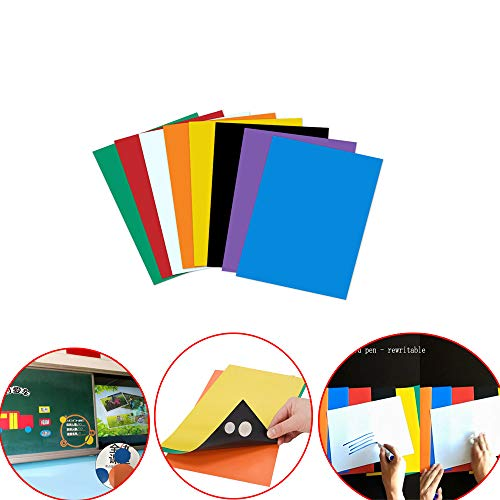 A4 Farbe Magnetfolie Lehrhilfen kann geschnitten werden Weiche Magnetfolie Ferromagnetische Magnetstreifen Gummi Message Board Magnet Stein Aufkleber