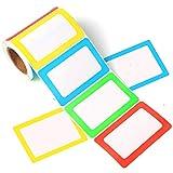 FANGTEK Colorful Plain Name Tag Labels 3 1/2 X 2 1/4, 200 Stickers.