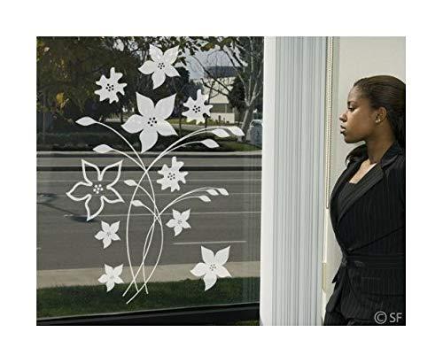 Apalis Fensterfolie Fenstertattoo Deko Blumenpracht Glasbild Frühling Frosted 84 x 60cm