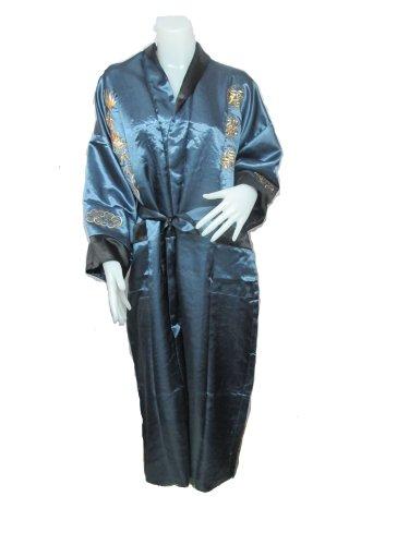 Thaimart Bath Robe 1003 Japaness Kimono Albornoz Flores Albornoz se Puede Utilizar Ambos Lados