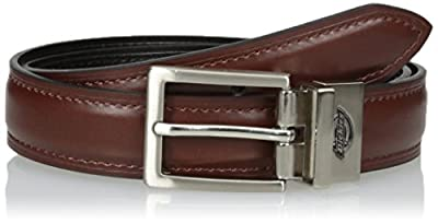 Dickies Boys' Big Feather Edge Dress Reversible Belt, Brown/Black, Large