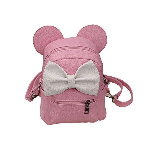 Bolsa de Viaje Mochila Mickey Mochilas Mujer Mini Mujeres Bolsos (Pink, AS Show)