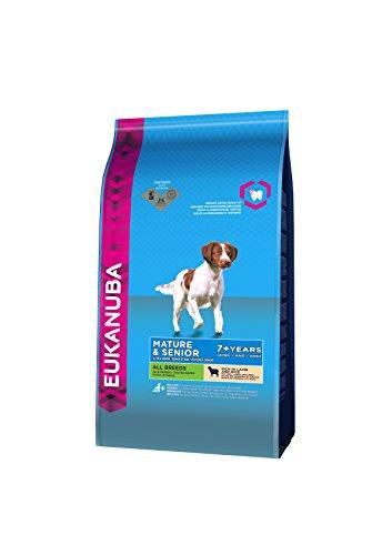 Eukanuba Hundefutter Senior für reifere & ältere Hunde aller Rassen – Trockenfutter mit Lamm & Reis, verschiedene Größen