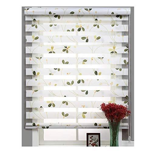 YLCCC Fenstervorhänge Zebra Shade Rolläden, natürliche Art-Druck-Blumen-Muster Vorhänge Blackout Wasserdicht für Windows Tür