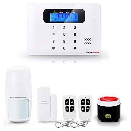 Alarma Hogar AZ021 GSM con teclado Castellano Sin Cuotas Control remoto APP Facil instalación. Soporte e instrucciones para ayuda a configuracion en ...