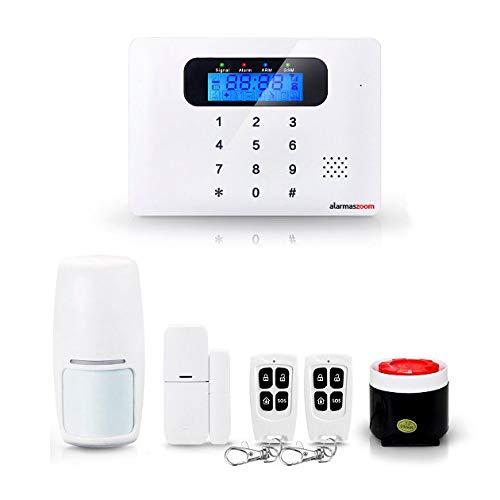 Alarma Hogar AZ021 GSM con teclado Castellano Sin Cuotas Control remoto APP Facil instalación. Soporte e instrucciones para ayuda a configuracion en castellano. Alarma para casa en propiedad