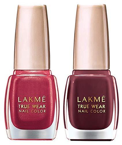 LAKMÉ True Wear Nail Color , Shade 506, 9 ml and Lakme True Wear Nail Color, Reds and Maroons 401, 9 ml