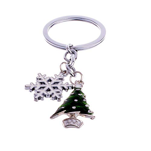 Schlüsselanhänger Santa Claus Weihnachtsbaum Snowman Key Chain Tropf Öl Metall Anhänger Familie und Freunde, Snow Christbaum