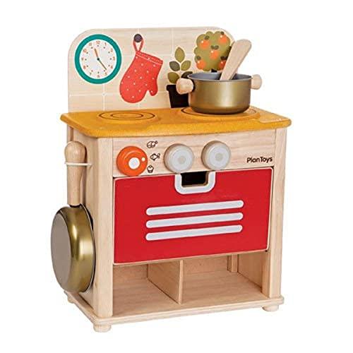 PLAN TOYS- Kitchen Set, Colore Legno, 3603