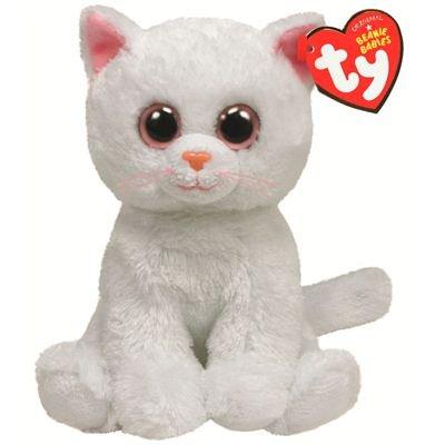 TY 7142056-Bianca-Katze Beanie Babies, 15 cm, weiß