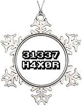 Christmas Snowflake Keepsake, Pwn3d Eleet Star Christmas Metal Ornament